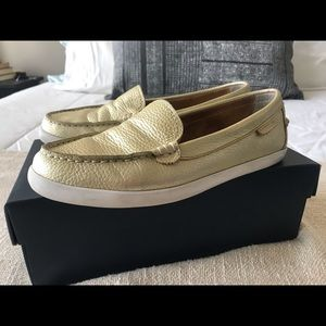 Cole Haan Pinch Weekend Loafer in Soft Gold